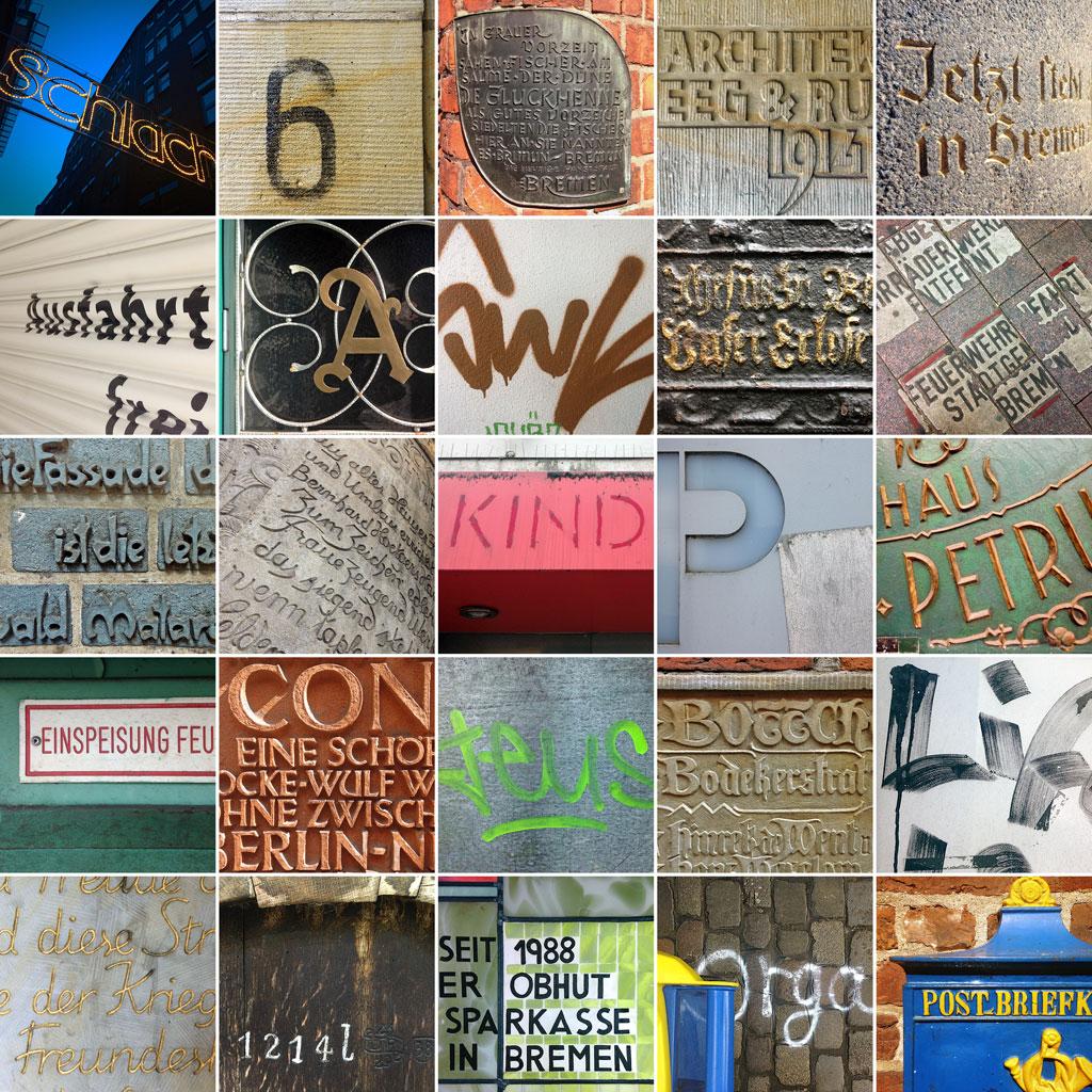 Typographische Impressionen aus Bremen