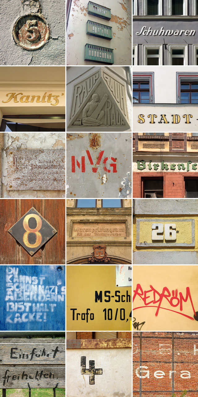Typographische Fundstücke aus Gera